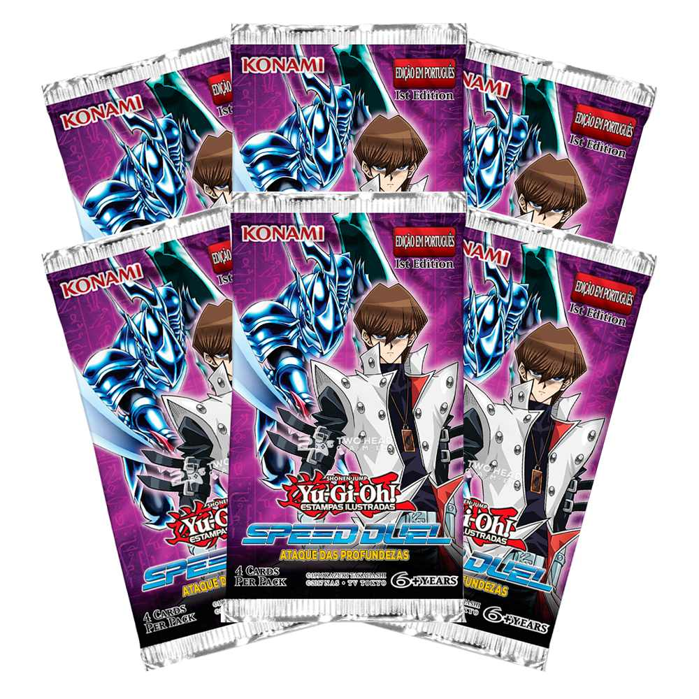 Yugioh Box Booster Ataque das Profundezas Speed Duel