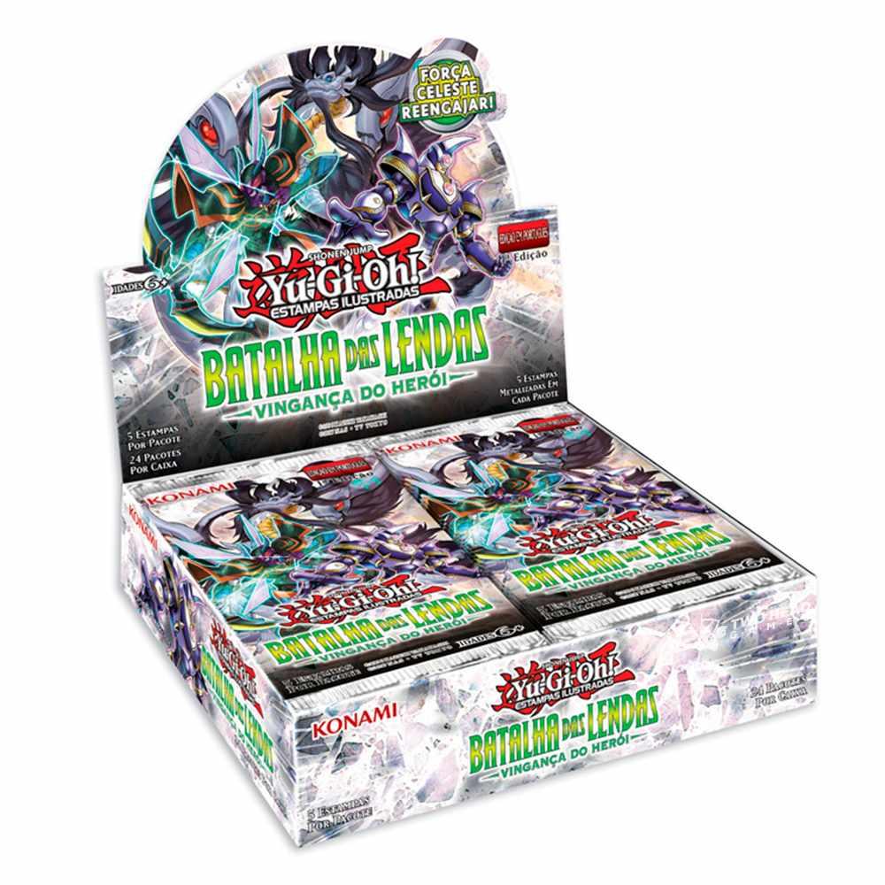 Yugioh Box Booster Batalha das Lendas Vingança Do Heroi