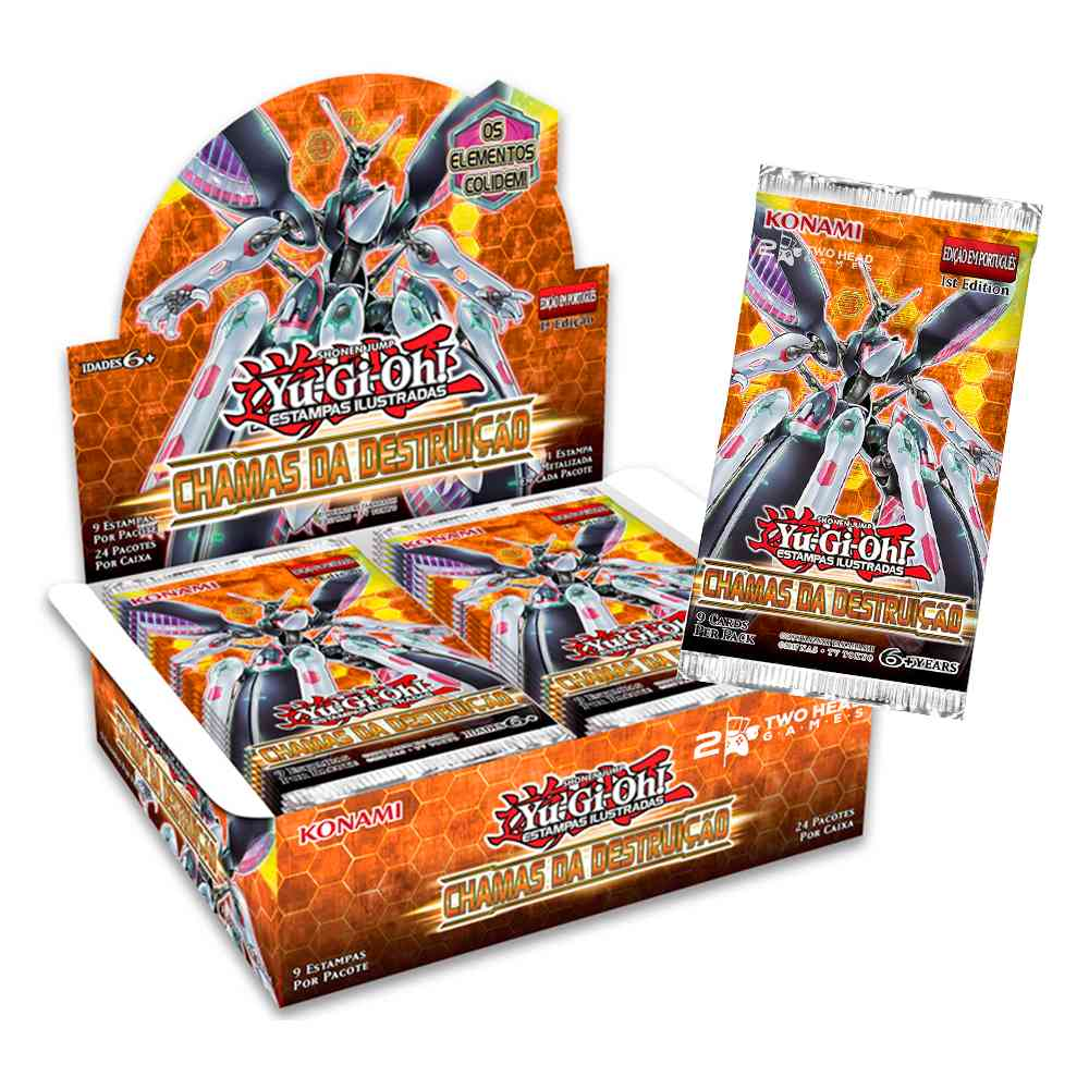 Yugioh Box Booster Chamas da Destruição - Flames Destruction