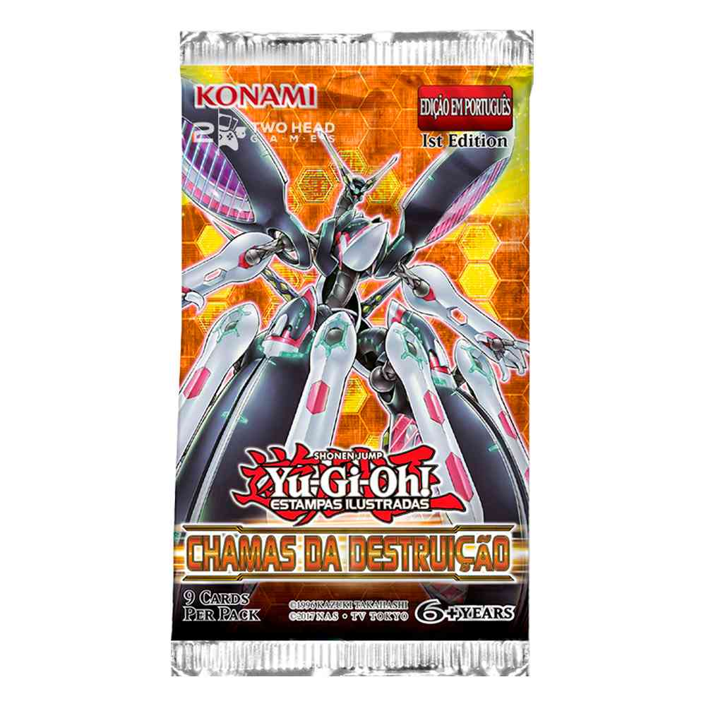 Yugioh Box Booster Chamas da Destruição - Flames Destruction