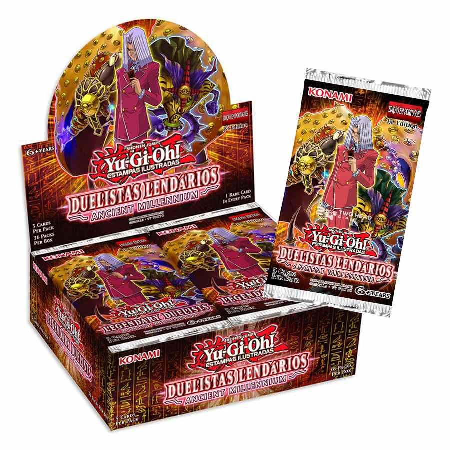 Yugioh Box Booster Duelistas Lendários Antigo Milênio