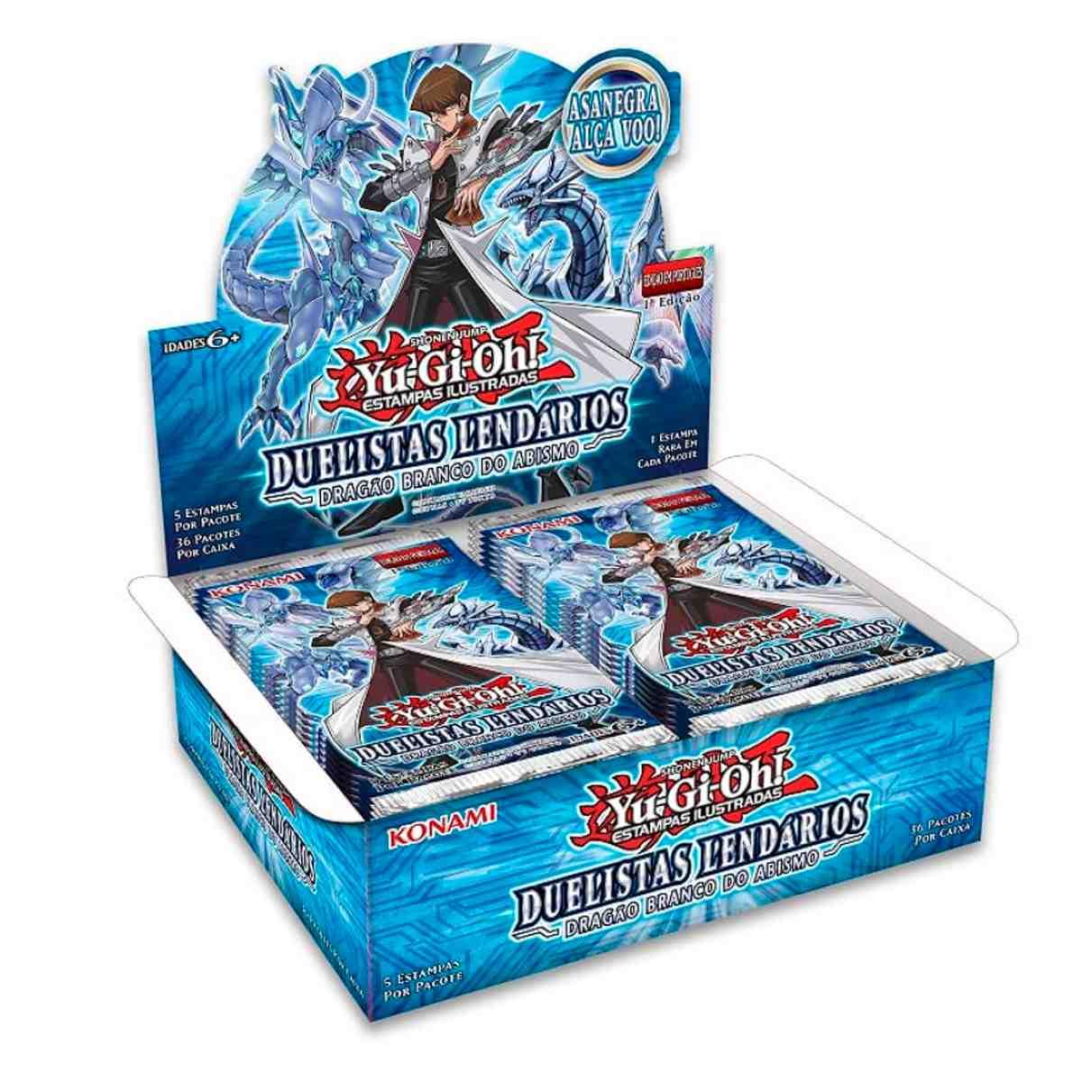 Yugioh Box Booster Duelistas Lendários Dragão Branco Abismo