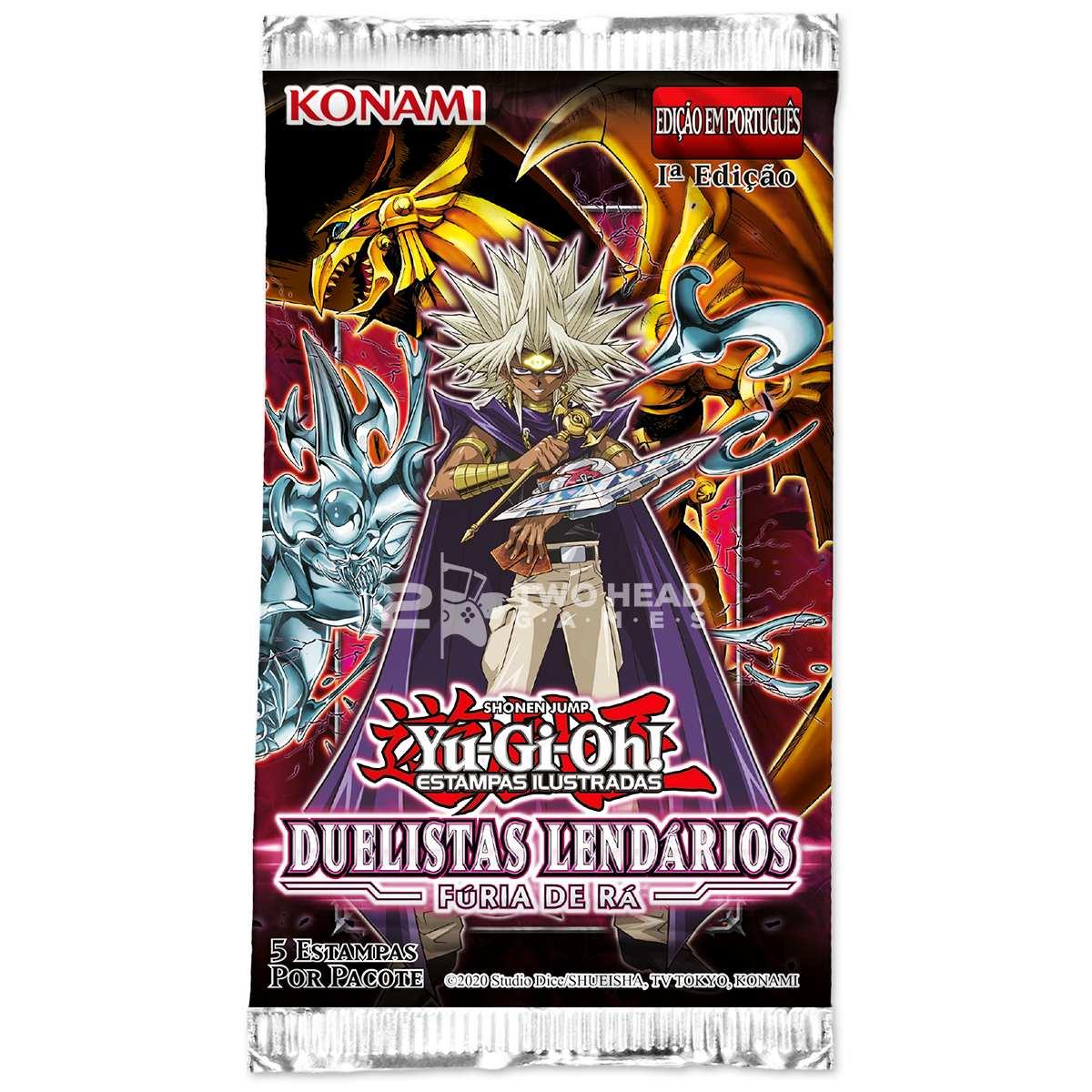 Yugioh Box Booster Duelistas Lendários Fúria de Rá