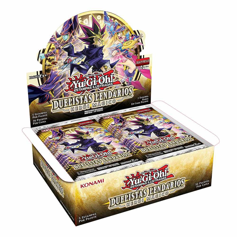 Yugioh Box Booster Duelistas Lendários Herói Mágico - Magical