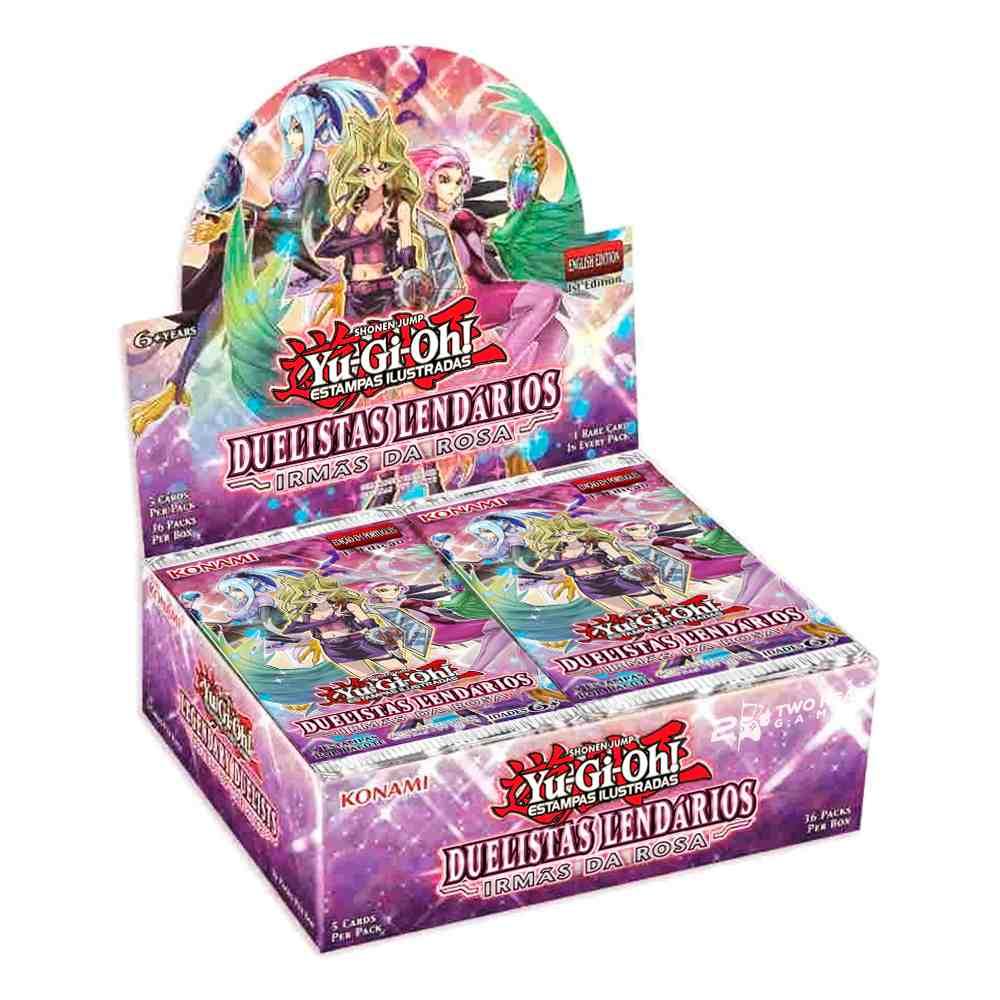Yugioh Box Booster Duelistas Lendários Irmãs da Rosa