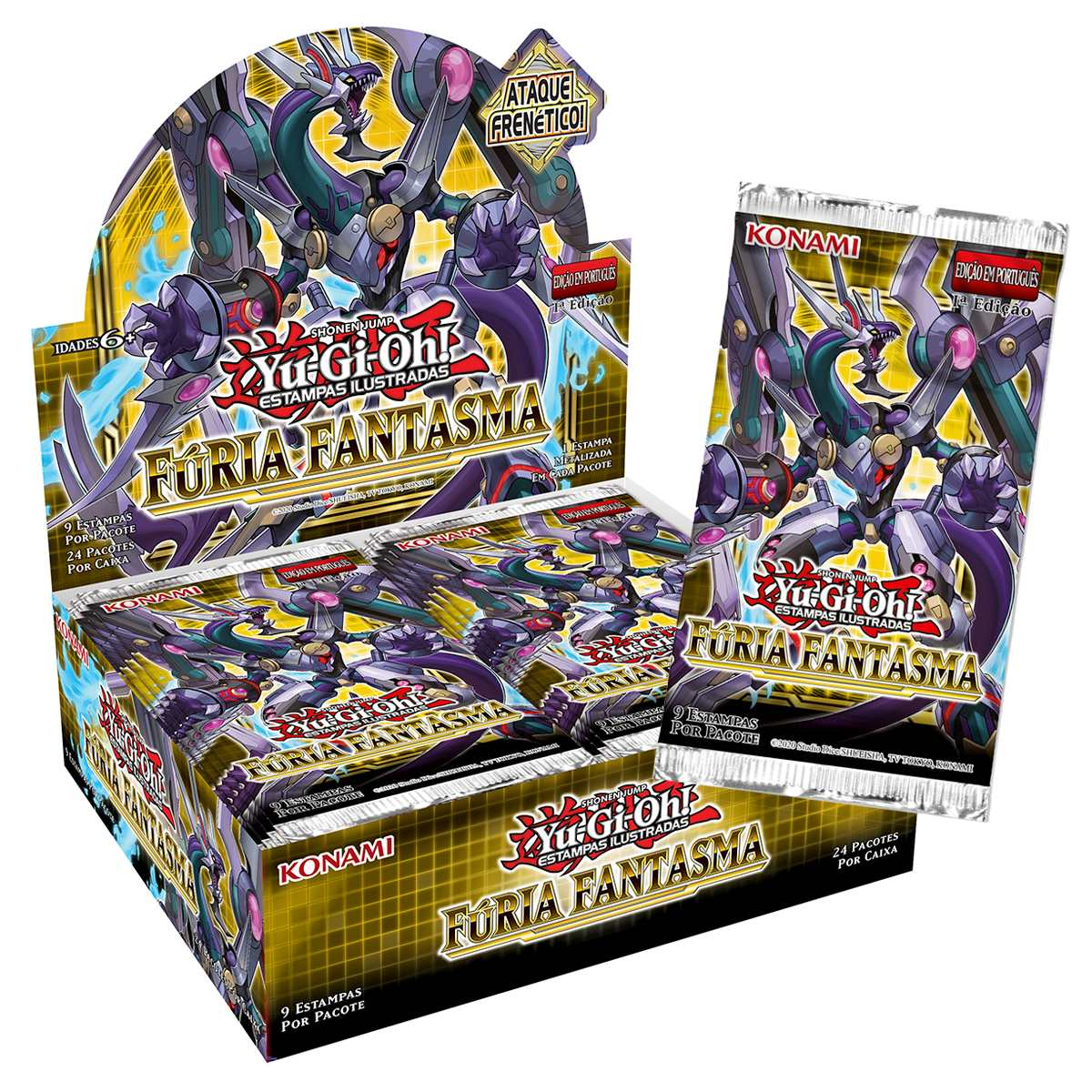 Yugioh Box Booster Fúria Fantasma - Phantom Rage