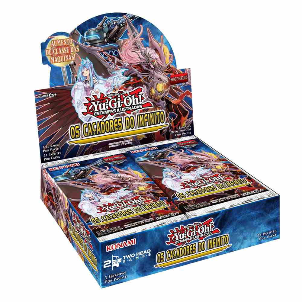 Yugioh Box Booster Os Cacadores do Infinito Infinity Chasers
