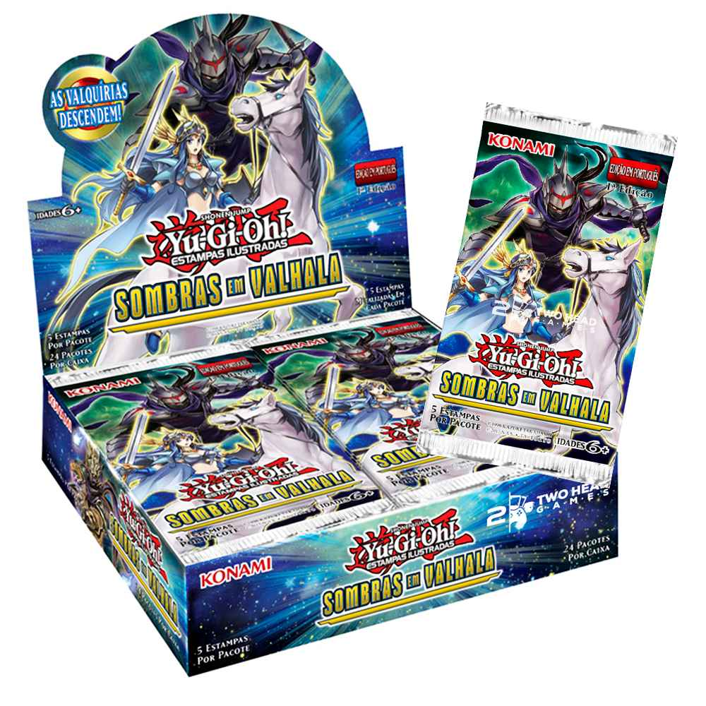 Yugioh Box Booster Sombras em Valhala Shadows Over Valhalla