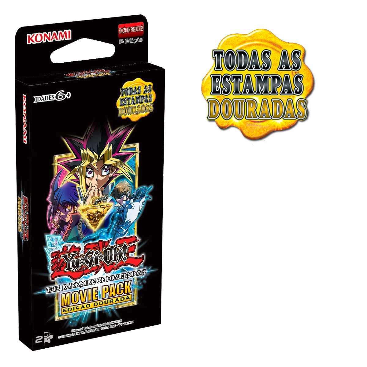 Yugioh Box Movie Pack Booster Edição Especial Dourada