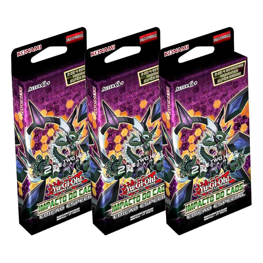 Yugioh Impacto do Caos Box Booster Edição Especial