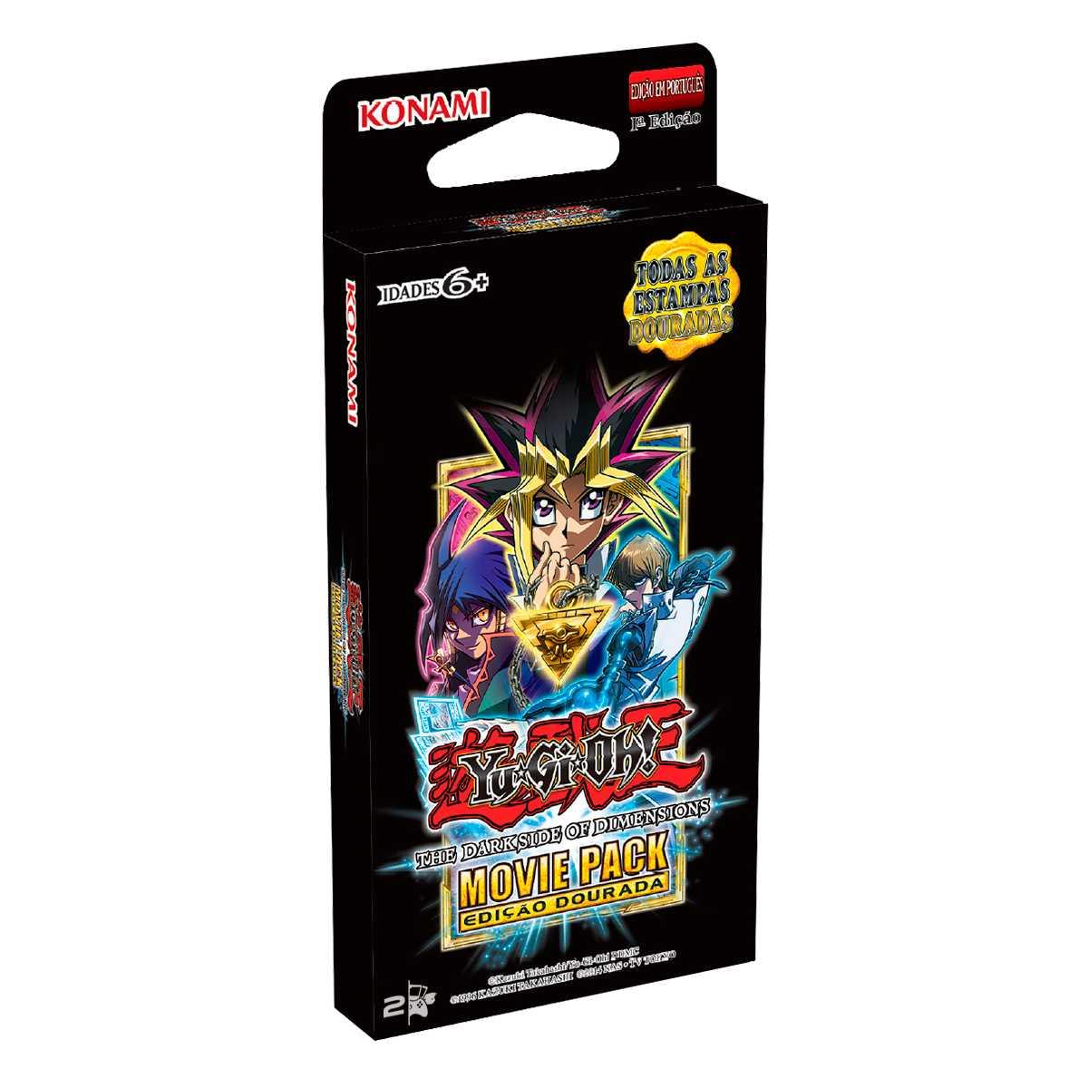 Yugioh Movie Pack Edição Booster Especial Dourada