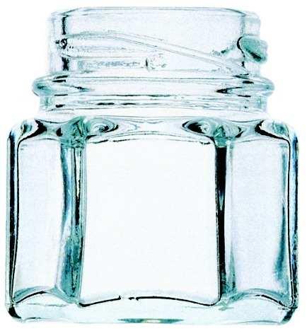 20 Potes De Vidro Para Lembrancinhas Sextavado 40ml