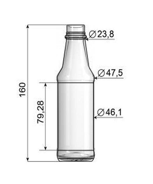 Frasco de Molho 150ml - Caixa com 42 unidades