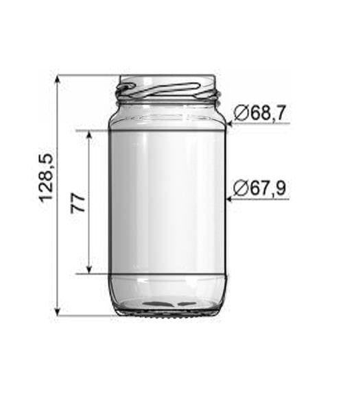 Pote de Vidro 347ml para Azeitona - Caixa com 24 Unidades