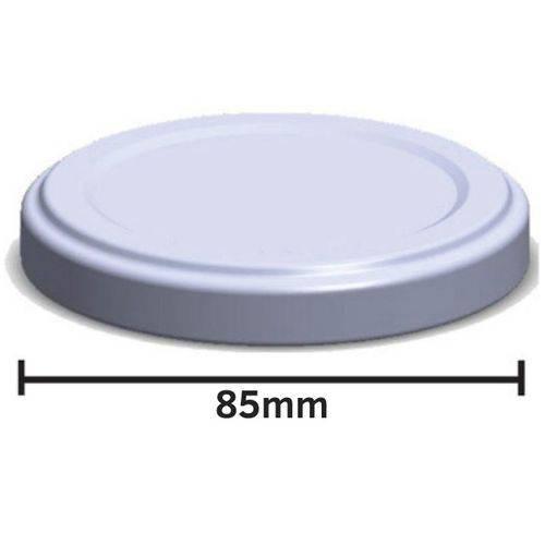 Tampa de Metal 85mm - Caixa com 100 unidades