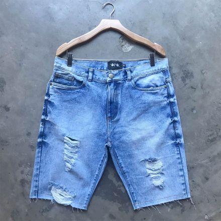 Bermuda Destroyed Jeans SkyFoan Inverno