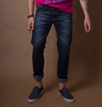 Calça Jeans Escuro Verão