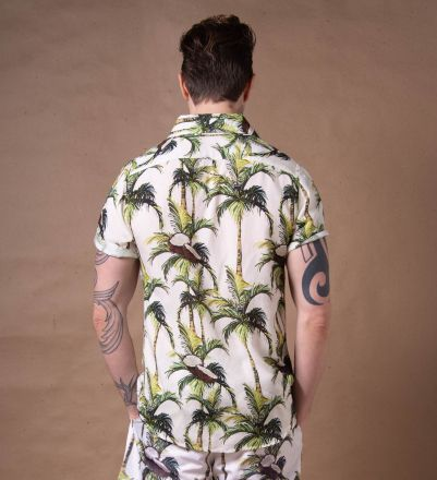 Camisa Coconut Tropical Manga Curta