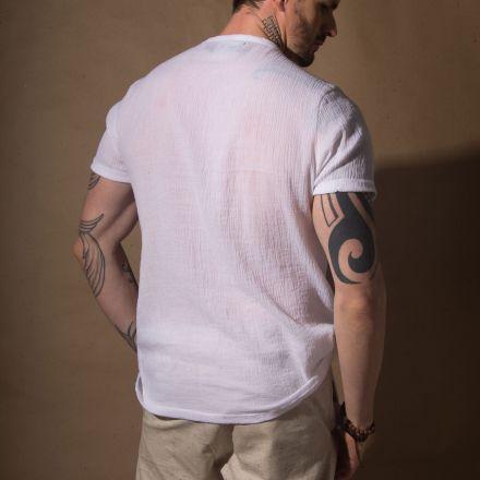 Camisa Naturale Branca Manga Curta