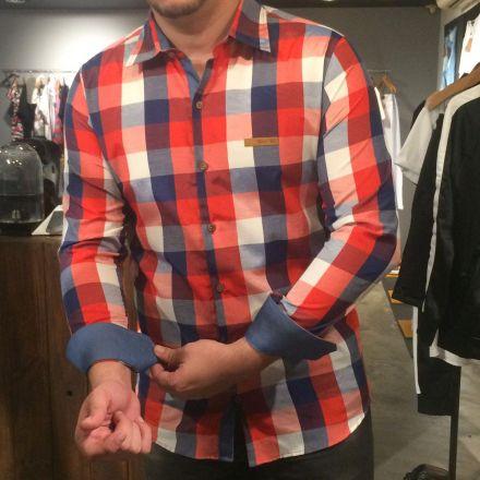 Camisa Xadrez Manga Longa Big Red