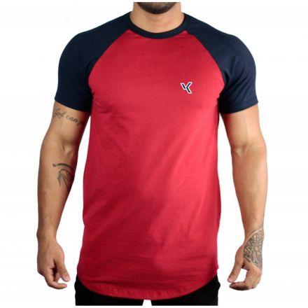 Camiseta Básica Raglam Vermelha