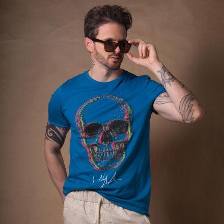 Camiseta Skull Glitch Color