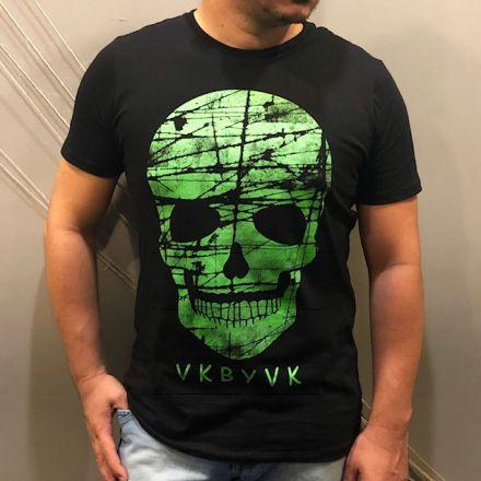 Camiseta Skull Neon