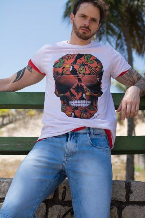 Camiseta Skull Tropical