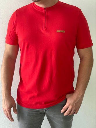 Camiseta Zíper Vermelha