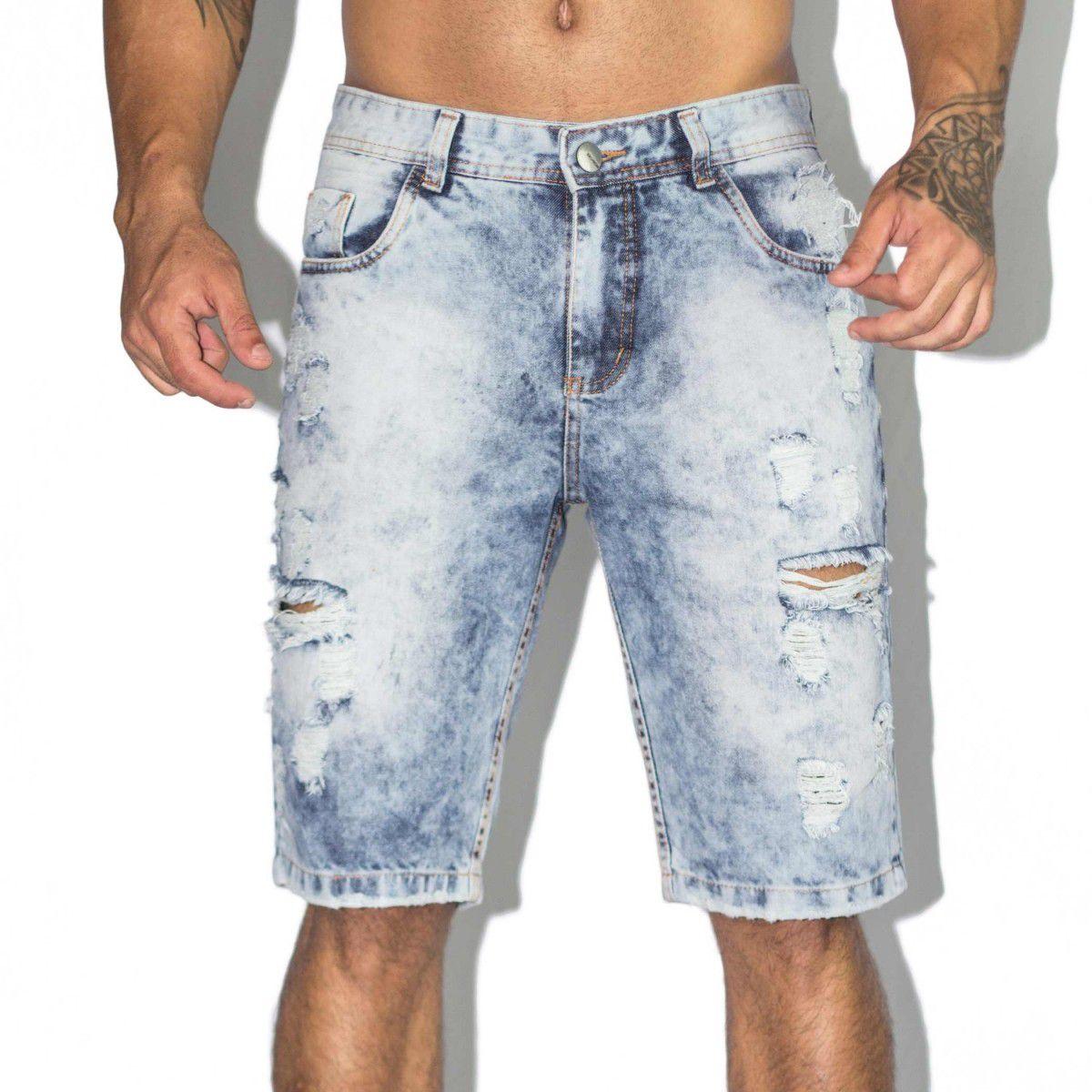 10270662ca Bermuda Destroyed Jeans - VK by VK