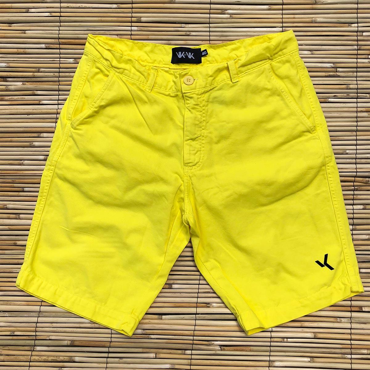 60857559f Bermuda Sarja Amarela Verão - VK by VK | Moda Masculina e Acessórios
