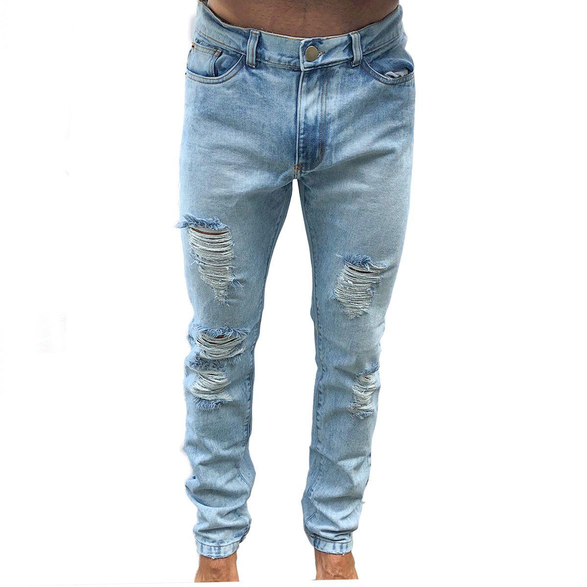 aca552b638 Calça Jeans Skyfoan Destroyed - VK by VK