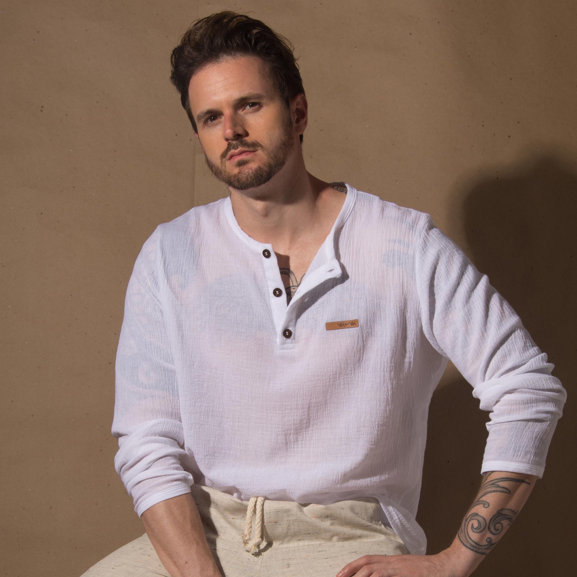 Camisa Naturale Branca Manga Longa