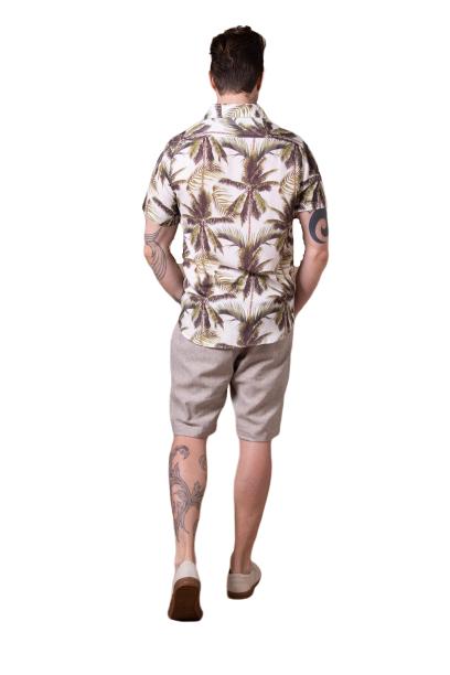 Camisa Palm Beach Manga Curta