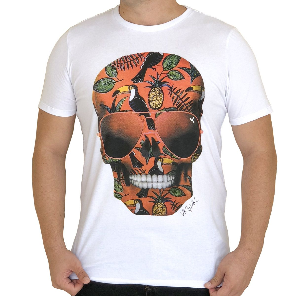 Camiseta Skull Tropical