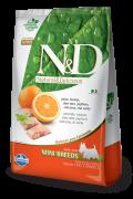 Natural & Delicious Prime Peixe e Laranja Pequeno Porte - 2,5 kg