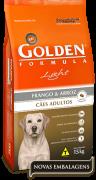 Ração Golden Fórmula Light Cães Adultos Frango e Arroz - 15kg
