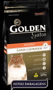 Ração Golden Gatos Castrados Salmão - Pacote de 10,1kg com valor promocional