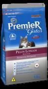 Ração Premier Gatos Adultos Ambientes Internos Pelos Longos Frango