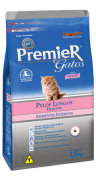 Ração Premier Gatos Filhotes Ambientes Internos Pelos Longos - Salmão