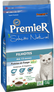 Ração Premier Seleção Natural Gatos Filhotes Sabor Frango 1,5 kg