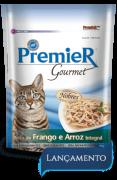 Sachê Premier Gourmet Gatos Sabor Peito de Frango e Arroz Integral - 70 gramas