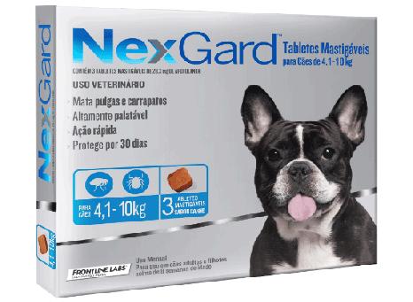 Antipulgas e Anticarrapatos para cães Nexgard