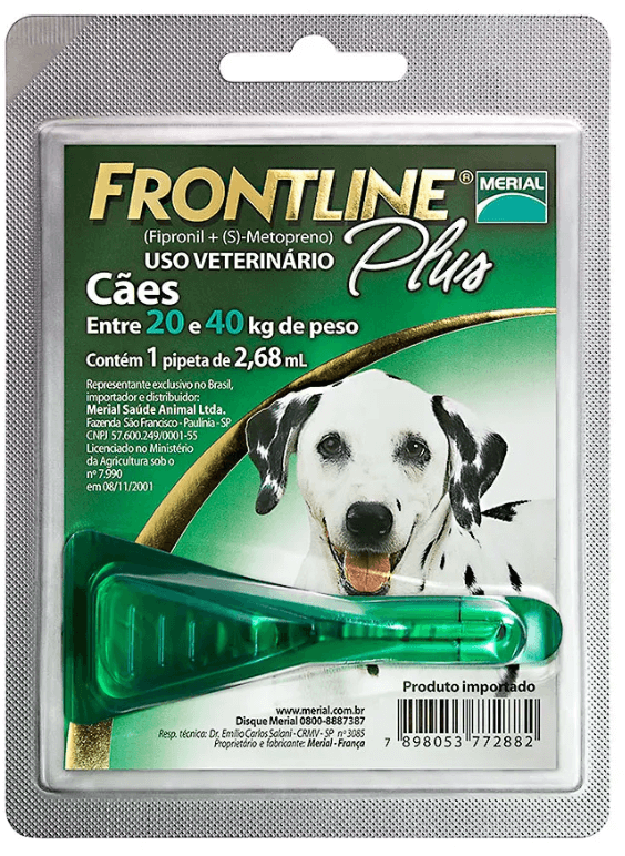 Antipulgas Frontline Plus Cães