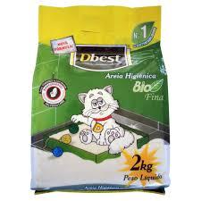 Areia Higiênica DBest  Bio Fina - 2 kg