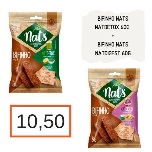 Bifinhos Naturais: NatDetox 60 g + NatDigest 60 g