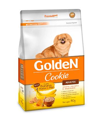 Biscoito Golden Cookie Banana, Aveia e Mel - Cães Adultos - 350 g