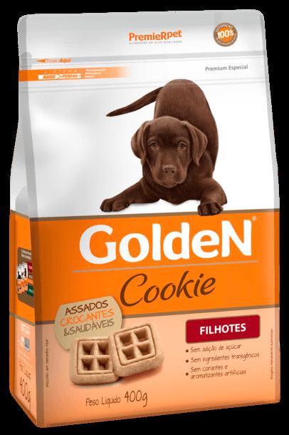 Biscoito Golden Cookie Cães Filhotes 400 gramas