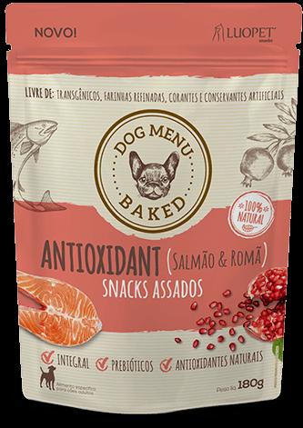 Biscoito Luopet Antioxidant sabor Salmão & Romã para Cães - 180g