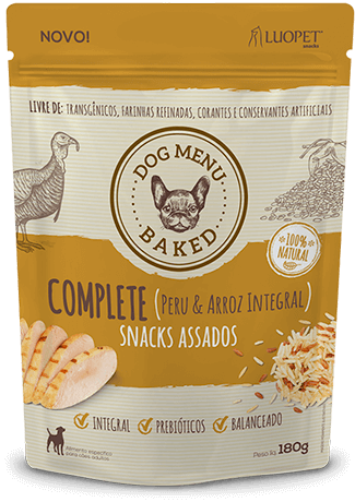 Biscoito Luopet Complete sabor Peru & Arroz Integral para Cães - 180g